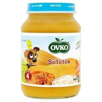 Ovko glutén- és tejszármazékmentes sütőtök bébiétel 4 hó/190 g - 12db