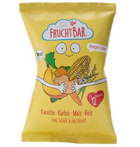FRUCHTBAR Gluténmentes BIO Ropogós kukorica snack srépával, sütőtökkel és rizzsel 12 hó/30g - 12 db