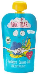 FRUCHTBAR BIO Cukor-és gluténmentes Áfonya, banán, rizs 6hó/100g - 16 db