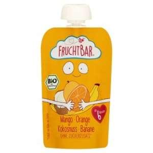 FRUCHTBAR BIO Cukor-és gluténmentes Mangó, narancs, kókusz 6hó/100g - 16 db