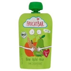 Fruchtbar Bio cukor-és gluténmentes körte-alma-köles Bébidesszert 6hó/100g - 16db 30213145 Bébiétel, snack