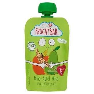 FRUCHTBAR BIO Cukor-és gluténmentes Körte, alma, köles 6hó/100g - 16 db