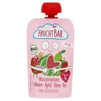 FRUCHTBAR BIO Cukor-és gluténmentes Dinnye, eper, alma 6hó/100g - 16 db