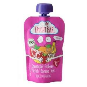 Fruchtbar Bio cukor-és gluténmentes gránátalma-eper Bébidesszert 6hó/100g - 16db  30213155 Bébiétel, snack