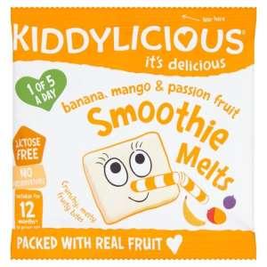 KIDDYLICIOUS Cukor-és gluténmentes Banán, mangó, maraquja smoothie 12hó/6g - 16 db