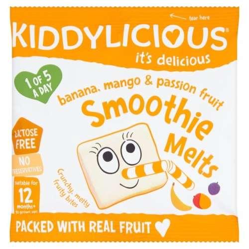 KIDDYLICIOUS Cukor-és gluténmentes Banán mangó maraquja smoothie 12hó/6g 16db