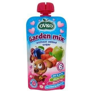 Ovko Kerti Gyümölcsmix bébidesszert hozzáadott cukor nélkül 6 hó/120 g -8db
