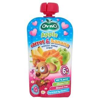 Ovko gluténmentes alma-sárgarépa-banán bébidesszert hozzáadott cukor nélkül 6 hó/ 120 g8db