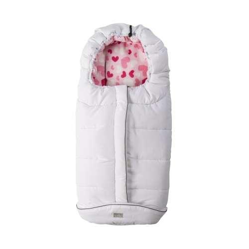 Nuvita City Bundazsák 100cm #fehér #rózsaszín - szívek