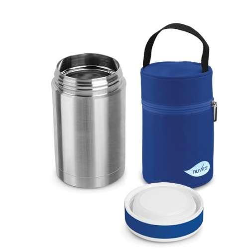 Nuvita Ételtároló Termosz Hordozó táskával 500ml #ezüst