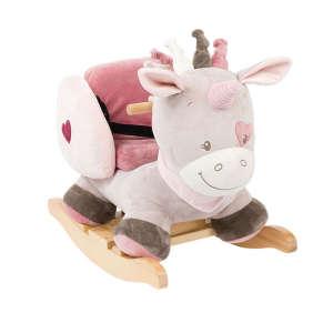 Nattou Hintázó állatka - Jade az egyszarvú #szürke-rózsaszín 30220903 Hintaló, hintázó állatka
