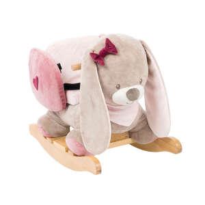 Nattou plüss Hintázó állatka - Nyuszi #rózsaszín 30220904 Hintaló, hintázó állatka