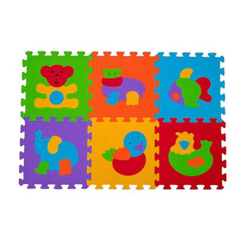 Babyono szivacsPuzzle szőnyeg #6db állatos