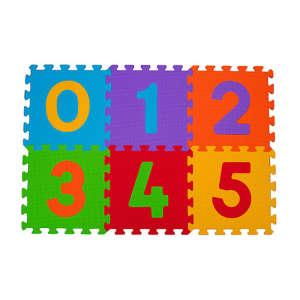 BabyOno szivacsPuzzle szőnyeg 6db számos 30220943 Szivacs puzzle