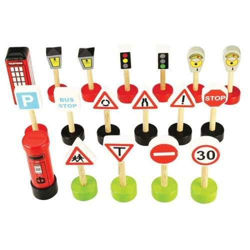 Bigjigs közlekedési jelzőtáblák és kiegészítők