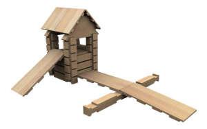 BRICO mini fa Építőjáték 68db 30994463 Fa építőjáték