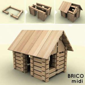 BRICO midi fa Építőjáték 146db 30994306 Fa építőjáték