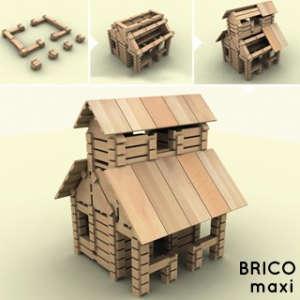 BRICO Maxi fa Építőjáték 284db 30994389 Fa építőjáték