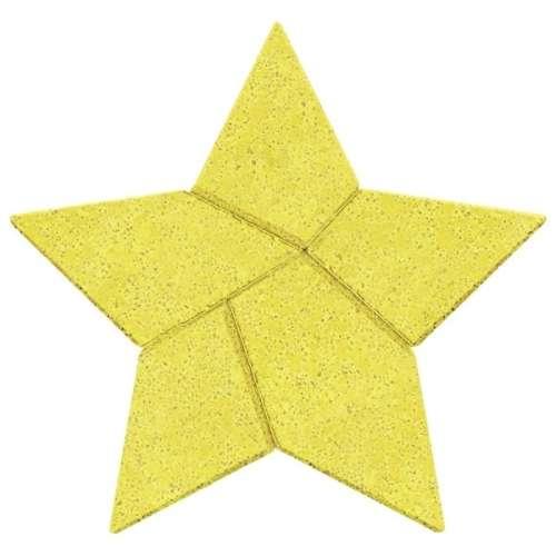 Logikai kirakó kőből #csillag tangram