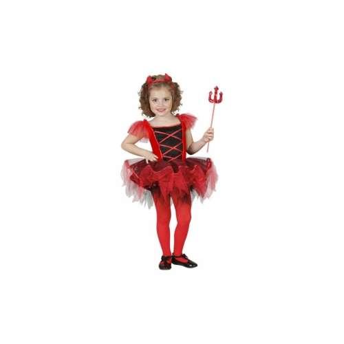Balerina ördög gyerek jelmez #110-es méretben
