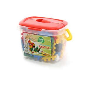 Családi műanyag Építőjáték 108db 30477656 Műanyag építőjáték