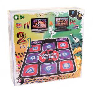Dance Factory TV-re és PC-re csatlakoztatható táncszőnyeg 31521409 Táncszőnyeg