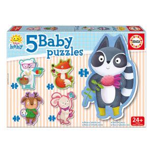 Educa Állatkás bébi Puzzle 5in1 30477748 Puzzle gyereknek
