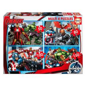 Educa Avengers Bosszúállók Puzzle 4in1 30475856 Puzzle gyereknek