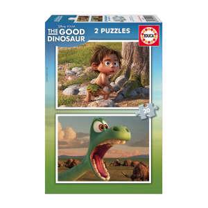 Educa Disney Dinó tesó Puzzle 2x20db 30477617 Puzzle gyereknek