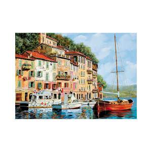 Educa La barca rossa alla Calata Guido Borelli Puzzle 2000db 30476737 Puzzle