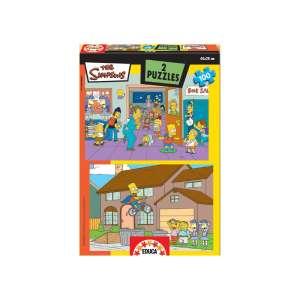 Educa Simpsons Puzzle 2x100db 30477998 Puzzle gyereknek