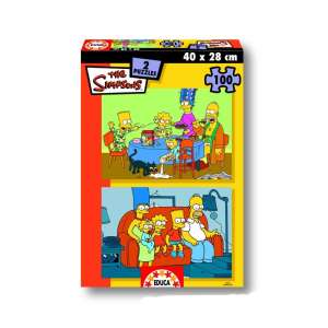 Educa Simpsons Puzzle 2x100db 30478020 Puzzle gyereknek