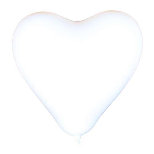 Fehér szív alakú lufi csomag #100db-os