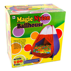 Gyermek játszósátor 100 darab labdával 30476716 Sátor