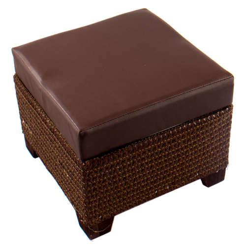 Kicsi bőrhatású ülőkés tároló #barna