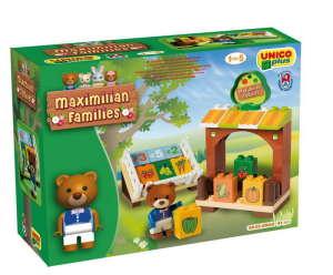 Maximilian Families - Maci piaca Építőjáték 41db 30476938 Fa építőjáték