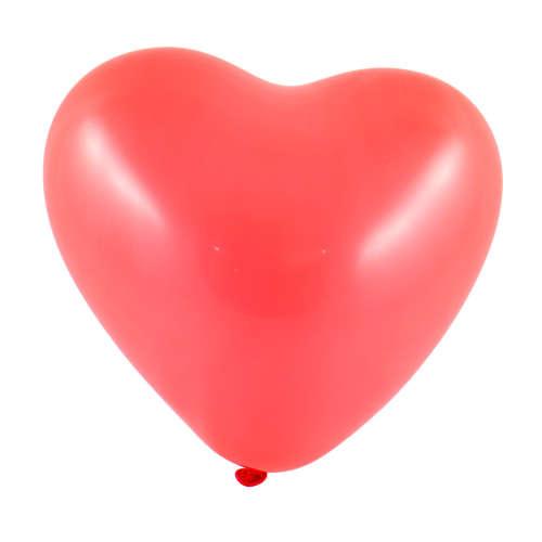 Piros szív alakú lufi csomag #100db-os