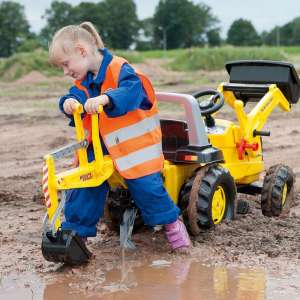 Rolly Junior New Holland Pedálos markolós Traktor exkavátorral