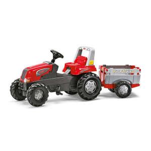 Rolly Junior Pedálos Traktor utánfutóval #piros