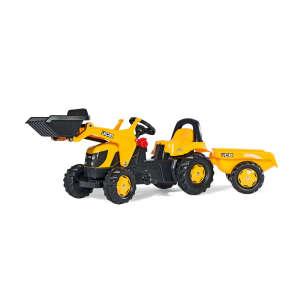 Rolly Kid JCB Pedálos markolós Traktor utánfutóval #sárga