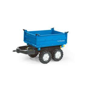 Rolly Mega Trailer Utánfutó #kék-fekete 31470860 Pedálos jármű