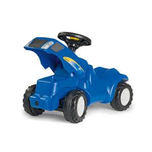 Rolly Minitrac New Holland T6010 lábbal hajtós mini Traktor #kék 30476318 Bébitaxi, kismotor