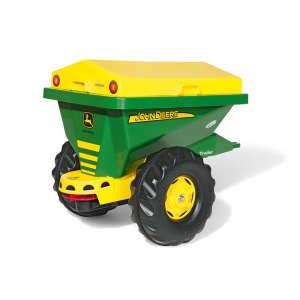 Rolly Trailer John Deere egytengelyes útszóró Utánfutó #zöld-sárga 31470578 Pedálos jármű