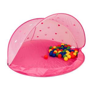 Rózsaszín Játszósátor 50 - színes labdával 30477745 Sátor