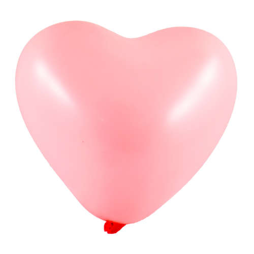 Rózsaszín szív alakú lufi csomag #100db-os