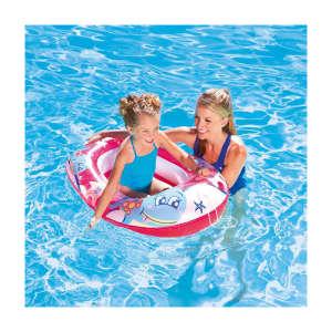 Rózsaszín tengeri állatos csónak 102x69cm 30475913 Strandjáték