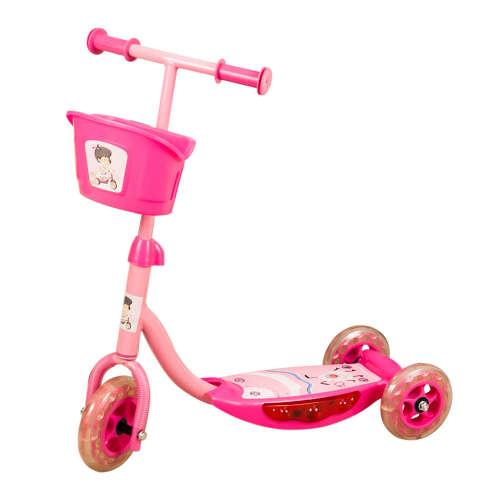 Világító zenélő roller #rózsaszín