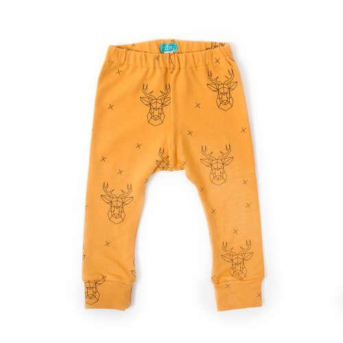 Mustár szarvas leggings 68