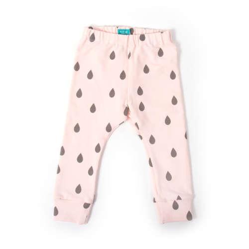 Rózsaszín cseppek Leggings 68
