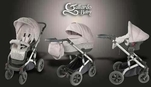 Gallardo Baby Premium #világosszürke #csipke mintás